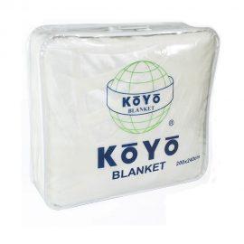 Cobija Koyo Unicolor Repujada -  Blanca