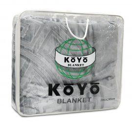 Cobija Koyo Unicolor Repujada -  Gris