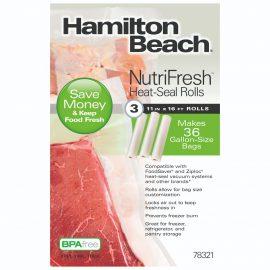 3 Rollos de Sellado Térmico 28 cm x 5 m Hamilton Beach Nutrifresh 78321