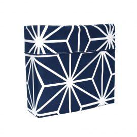 Juego de Sábana Confort - Azul con Blanco