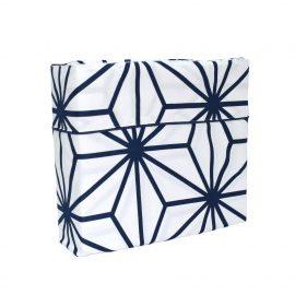 Juego de Sábana Confort - Blanco con Azul