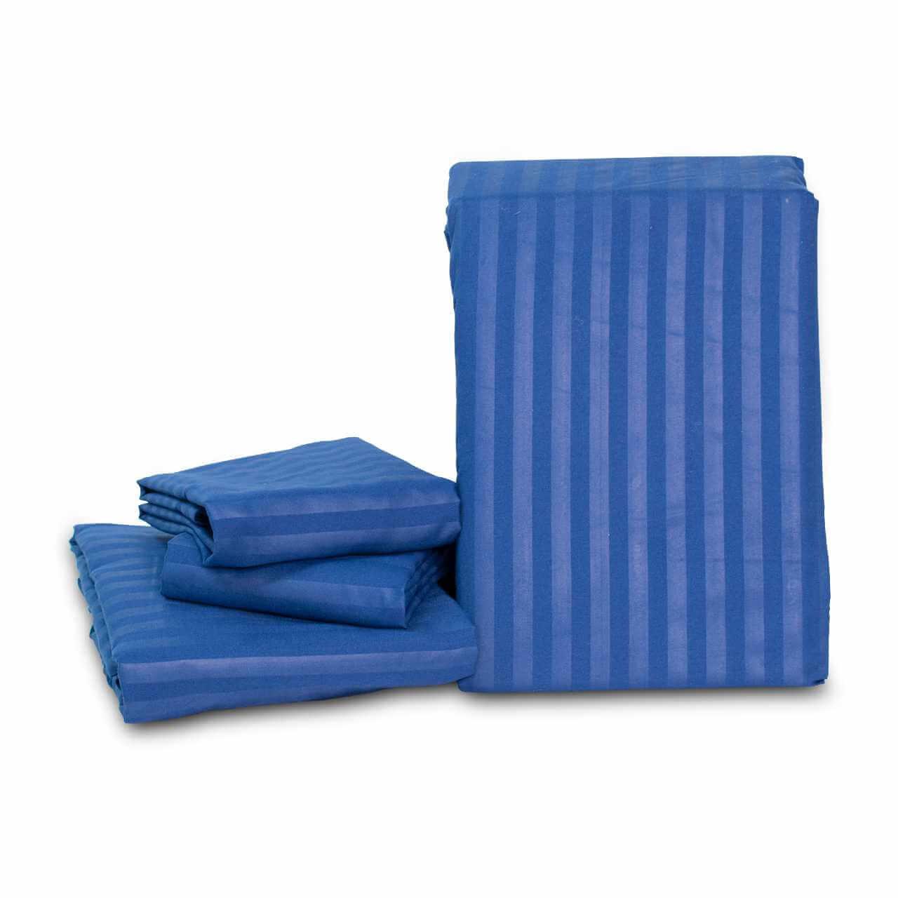 Juego de Sábanas Casa Real Tex Unicolor- Azul Oscuro