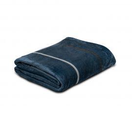 Cobija Flannel Estampada - Linea gruesa azul
