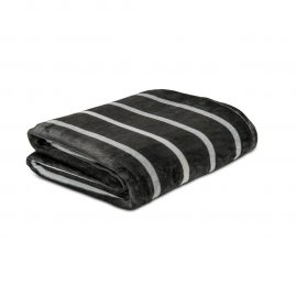 Cobija Flannel Estampada - Linea gruesa negra