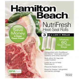 Rollos de Sellado Térmico x3 Nutrifresh 20cmx6m  Hamilton Beach - 78322