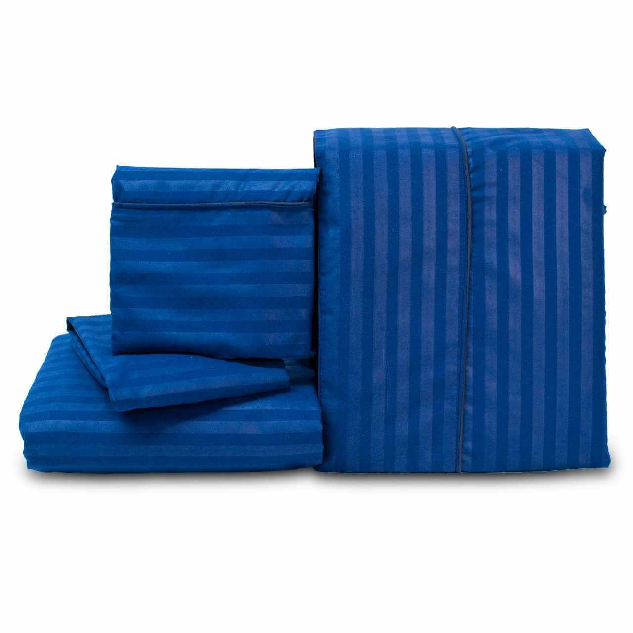 Juego de Sábanas Confort Unicolor Azul