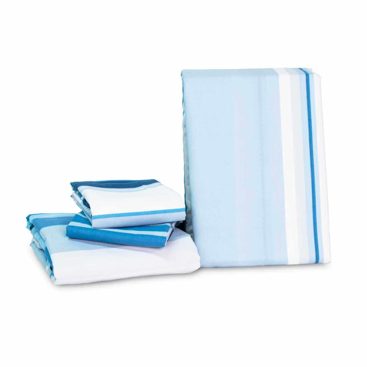 Juego de Sábanas Casa Real Tex - Lineas Azules